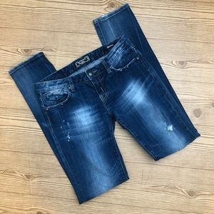 Rerock For Express Distressed Skinny Jeans Size 6